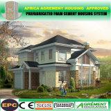 Casa prefabricada modificada para requisitos particulares de la casa prefabricada del marco de acero con diseño moderno
