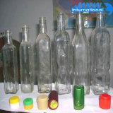 De Fles van het Glas van de Opslag van de olie met Schroefdop