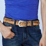 نمو رجال شريكات 100% غلّة كرم أصليّ بقرة جلد رجال [بين] إبزيم حزام سير