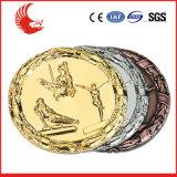 Zink-Legierung überzogene Silber-und Goldsport-Medaille des Entwurfs-3D