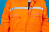 Workwear Coverall втулки безопасности полиэфира 35%Cotton 65% длинний с отражательным (BLY1017)