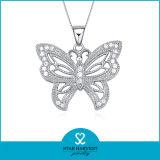 Forma de mariposa encanto 925 Colgante de plata para las niñas (SH-N0095)
