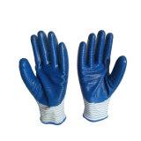 Gants en nitrile Zebra Polyester enduit de la sécurité de chemise de gants de travail directement à partir de l'usine