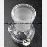 Tubo de vidrio transparente de mujeres en el bowl de 14,5mm, 18,8 mm de reciclaje de tabaco