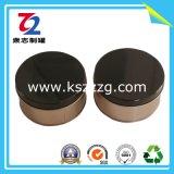 Pequeñas latas redondas de la contraportada para el chocolate