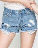 Краткости джинсовой ткани хлопка способа одежд женщин высокого качества вскользь