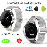 Teléfono elegante caliente del reloj de Bluetooth con el monitor K88h del ritmo cardíaco