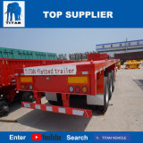 Het Voertuig van de titaan - Flat-Bed Aanhangwagen van 3 van Assen de Verlengbare Chassis van de Container