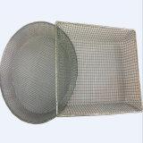 cestino tessuto maglia d'acciaio del nastro metallico 304 316stainless