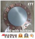 Цель Sputtering высокой очищенности алюминиевая на 99.999%