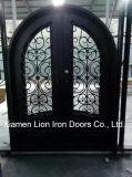 Portello principale del metallo del ferro esterno di lusso su ordinazione della parte anteriore per le residenze