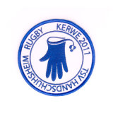 De uitstekende kwaliteit Aangepaste Toebehoren van de Kleding van de Sport van het Sleutelkoord van het Kenteken van het Borduurwerk