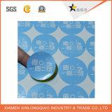La stampa del contrassegno personalizza l'autoadesivo di carta del distintivo stampato adesivo della decalcomania di servizio