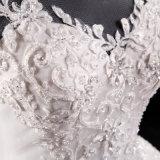 Платье венчания шнурка высокого ворота Backless отбортовывая Bridal