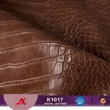 crocodilo do PVC de 1.0mm/couro sintéticos gravados alta qualidade do jacaré