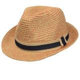 Casquillo de encargo de la paja del papel del sombrero del hombre