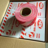 PE/PVCの縞の警告テープ注意テープ車線のマーキングテープ