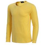 주문을 받아서 만들어진 상표 기초 Breathable 기본적인 셔츠 남자 긴 소매 t-셔츠