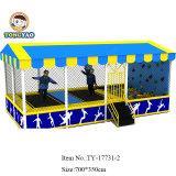 Grand trampoline d'intérieur avec basket-ball, piscine à bille, fosse à la mousse, Dodgeball Arena