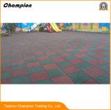 Azulejos do piso de borracha resistente ao ácido Jardim Parque Infantil do tapete de borracha Piscina