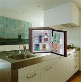 ブラウンカラーテーブルトップ冷蔵庫ノンフロンソリッドドアクーラー