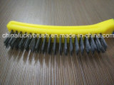 Doble color de alambre de acero barbacoa equipo cepillo (yy-506)