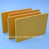 Желтый лист пластмассы PVC цвета