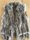 Rex Кролик и Raccoon вязание Майка--серого цвета