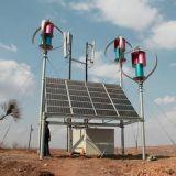 Générateur de turbine à vent vertical 400W24V à usage domestique avec système hybride à panneau solaire