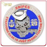 Emblema personalizado carimbado em latão Moeda de lembrança militar