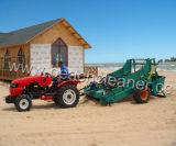 Il decespugliatore rimorchiato trattore della sabbia della spiaggia pulito Trashes