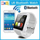 2015 Novo Smartwatches Bluetooth U8 Vigilância inteligente para ios e Andriod telemóvel com Bluetooth de Pulso