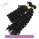 cheveux humains brésiliens non transformés d'onde profonde de cheveu de la Vierge 9A