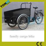 美しいBakfietsは貨物遠出の貨物バイクを自転車に乗る