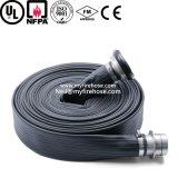Tubo flessibile Wearproof durevole di lotta antincendio del tubo flessibile della tela di canapa del fuoco del PVC da 1 pollice