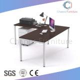 La moderna forma de L Oficina Escritorio mesa con cajones y titular de la CPU (CAS-MD1881)
