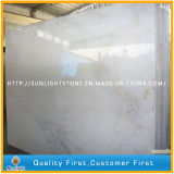 Mattonelle di marmo bianche cinesi Polished della pavimentazione/parete della stanza da bagno di Guangxi di sconto