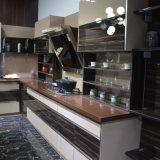 Modèle neuf de cuisine de bâti de porte de Liftup de cuisine de mur de Module de meubles en verre en aluminium de cuisine