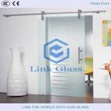 La puerta de cristal con vidrio templado de 10mm y ducha de vidrio