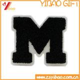 Hot la vente de bonne qualité de la lettre M patch broderie de chenille