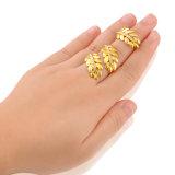 De nieuwe Ring van Twee Vinger van CZ van het Kristal van de Manier van het Ontwerp Gouden