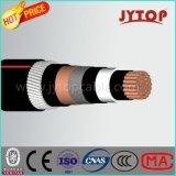 Cabo médio da tensão, cabo do núcleo da isolação de XLPE único, cabo blindado do fio de alumínio (AWA)