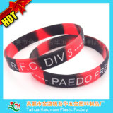 Bracelets de silicones de cadeau de promotion avec la couleur segmentée (DSC05219)