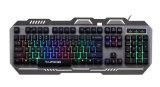 Juego iluminado diseño del teclado de la aleación de aluminio (KB-906EL-C)