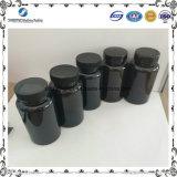 يخلو مستديرة أسود [150مل] محبوب بلاستيكيّة منتوجات/زجاجات لأنّ كيميائيّة يعبر
