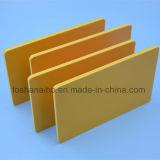 Feuille jaune de mousse de PVC du panneau 3mm de devise de PVC