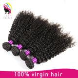 自然な毛の卸売のねじれたカールの人間の毛髪の拡張Remy