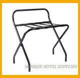 Hotel-Metallgepäck-Zahnstange mit schwarzen Brücken