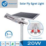 Luz de calle solar del LED con el sensor de movimiento