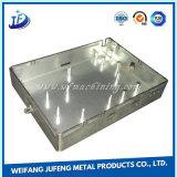 Pièce jointe de estampage en aluminium personnalisée de cas/cadre avec la soudure et le découpage